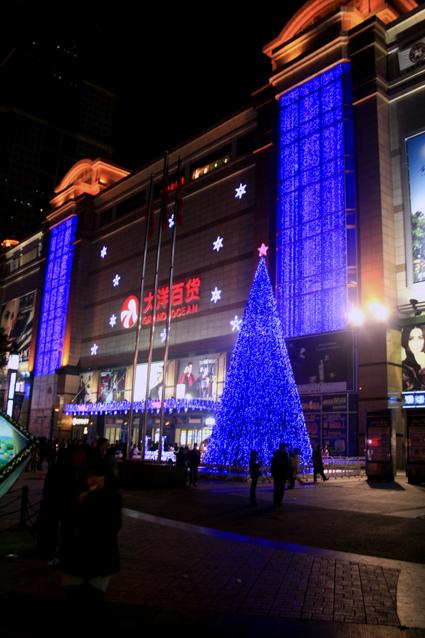 大洋百货武汉中山店圣诞树图片