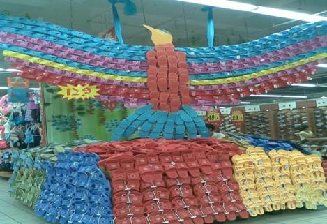 陈列图片,超市商品陈列图片,堆头创意陈列图片高清图片