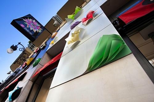 创意设计:百货商场创意外墙装饰和室内天花板装饰