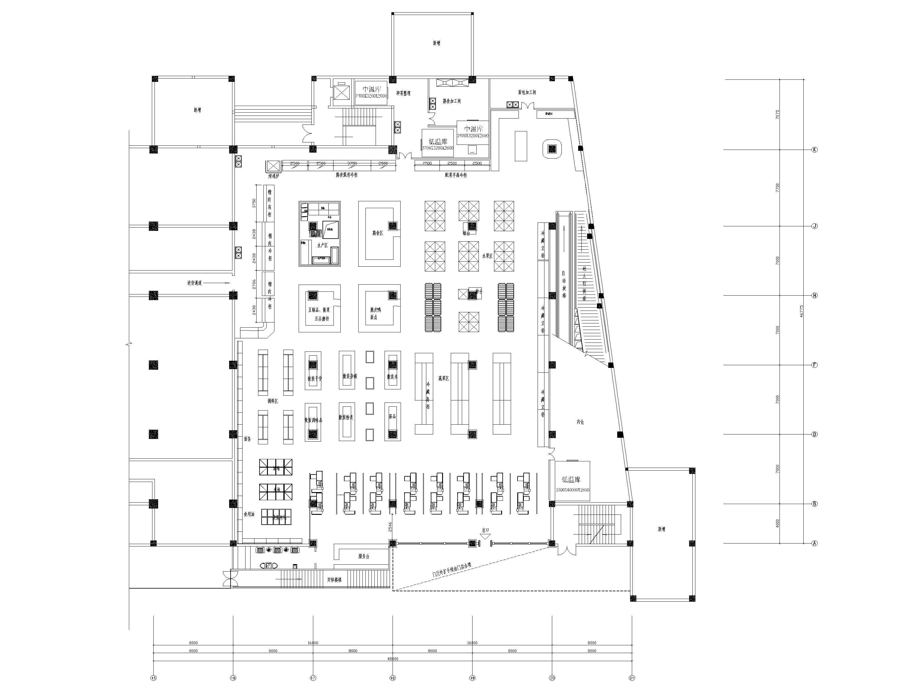 布局平面v布局_平面设计_宴厅图文布局-007室内设计平面配图片