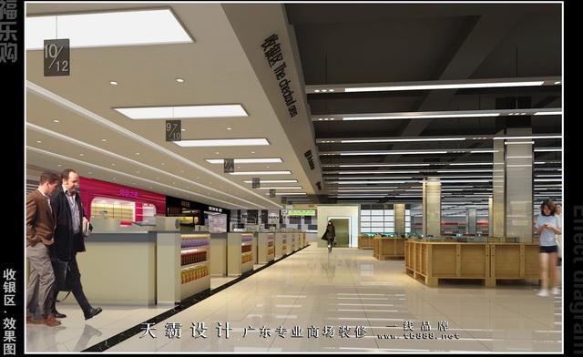 货室内效果图 大型百货商场装修设计 零售图库
